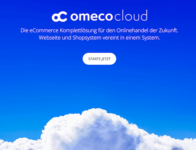- OmecoCloud: Onlineshop bereits ab 19 € mtl. -